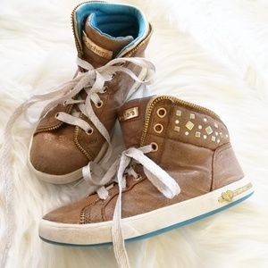 Skechers Zipsters High Top Studded Sneakers Girls